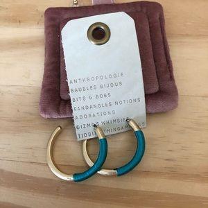 NWT Anthropologie baublebar hoop earrings